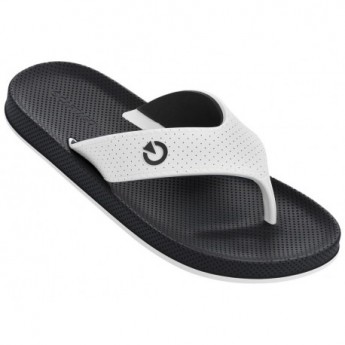 SIENA black and white flat finger flip flops for man