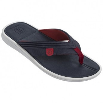 MALTA II blue and red flat finger flip flops for man