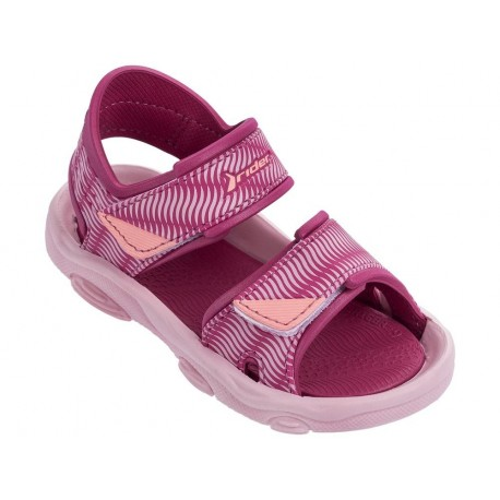 RS 2 III pink flat roman sandals for child