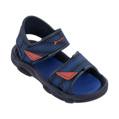 RS 2 III blue flat roman sandals for child