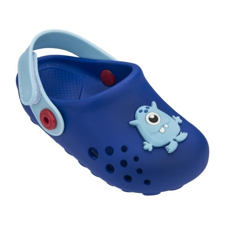 LUNAR blue flat closed clogs for child