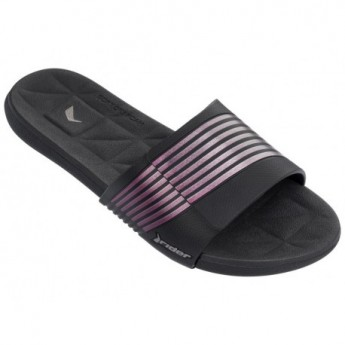 PRANA black and pink geometric shapes print flat flip flops for woman