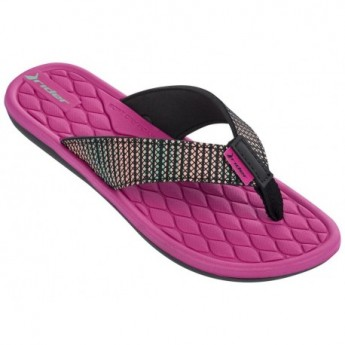 CLOUD V black and pink flat finger flip flops for woman