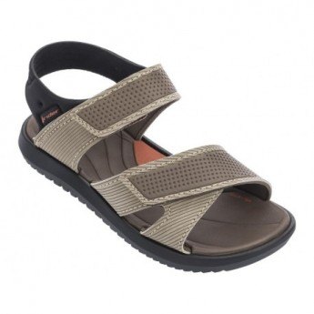 TERRAIN beige and black flat roman sandals for child