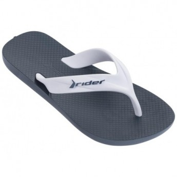 STRIKE blue and white flat finger flip flops for child