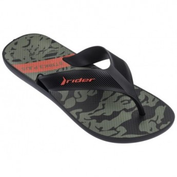 STRIKE PLUS black and green flat finger flip flops for man