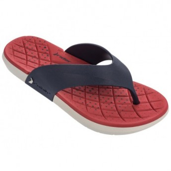 INFINITY blue and red flat finger flip flops for man