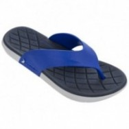 INFINITY blue and grey flat finger flip flops for man