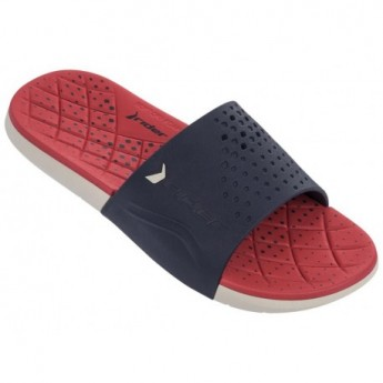 INFINITY blue and red flat flip flops for man