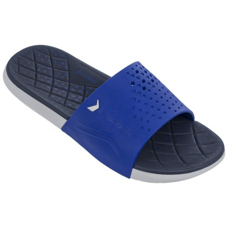 INFINITY blue and grey flat flip flops for man