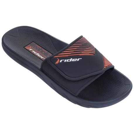 VANCOUVER II blue and orange flat shovel flip flops for man