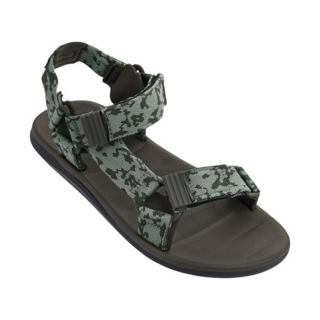 RX SANDAL II black and green flat roman sandals for man
