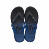 R1 ENERGY PLUS black and blue flat finger flip flops for man