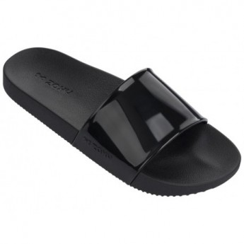 SNAP black flat flip flops for woman