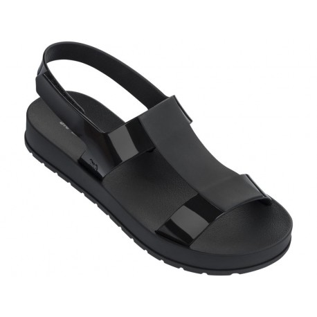 EVER black flat roman flip flops for woman