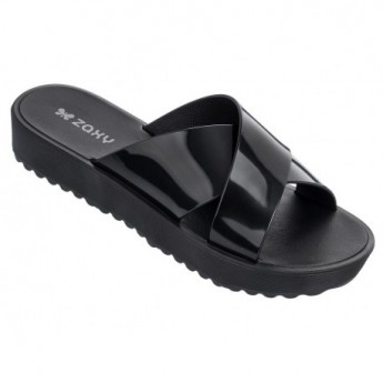 CLUBBER black flat flip flops for woman