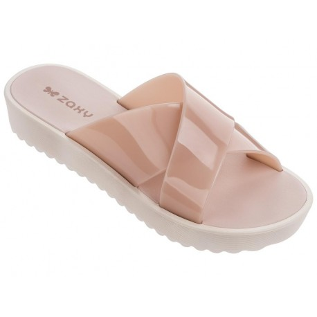 CLUBBER nude flat flip flops for woman