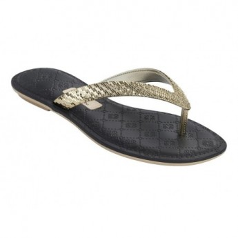 SENSE V black flat finger sandals for woman