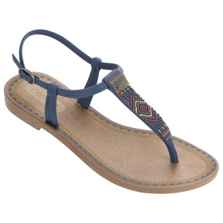 ACAI V blue flat finger sandals for woman