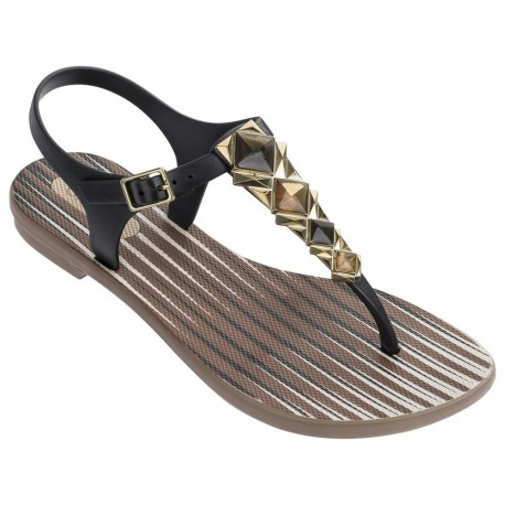 GRENDHA JEWEL II SANDAL FEM 23039 BROWN BLACK