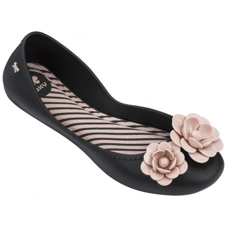 START V black and pink flat closed ballet flats for woman
