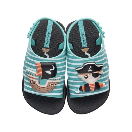 DREAMS black and blue flat crab sandals for child