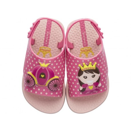 DREAMS pink flat open sandals for child