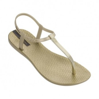 CLASS EXCLUSIVE cristina pedroche gold flat finger sandals for woman