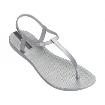 CLASS EXCLUSIVE silver flat finger sandals for woman
