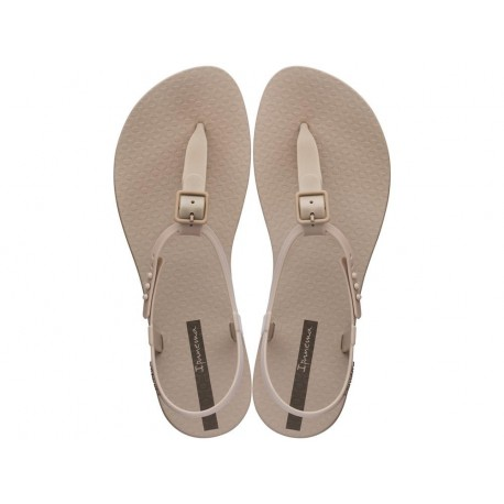 CLASS II beige flat finger sandals for woman