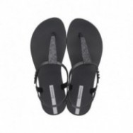 CLASS POP II black flat finger sandals for woman
