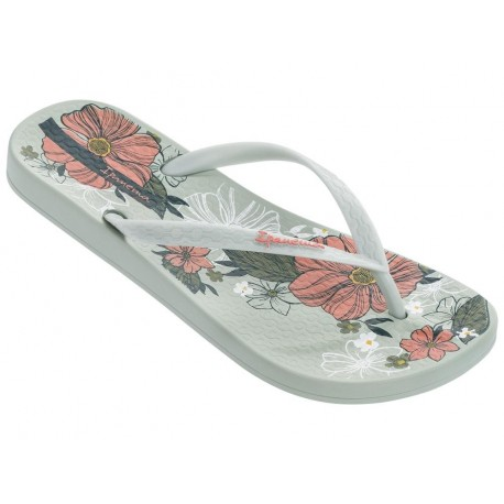 ANAT TEMAS VII green floral print flat finger flip flops for woman