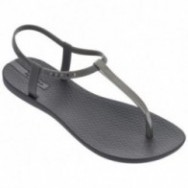 CHARM V cristina pedroche grey flat finger sandals for woman