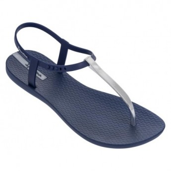 CHARM V blue and silver flat finger sandals for woman
