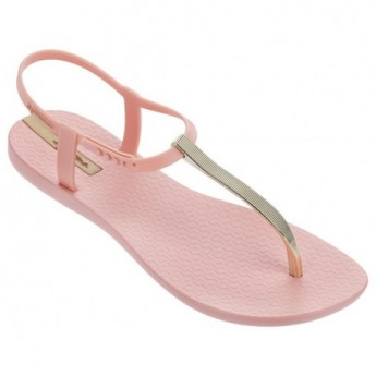 CHARM V gold and pink flat finger sandals for woman