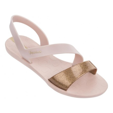 VIBE pink flat roman sandals for woman