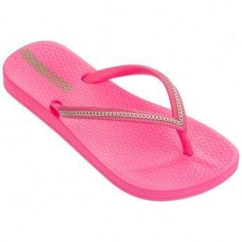 ANAT METALLIC pink flat finger flip flops for girl