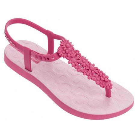 FLOWERS SAND pink flat finger sandals for child