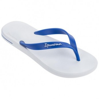 POSTO 10 blue and white flat finger flip flops for man