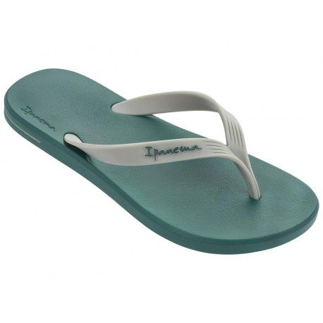 POSTO 10 green flat finger flip flops for man