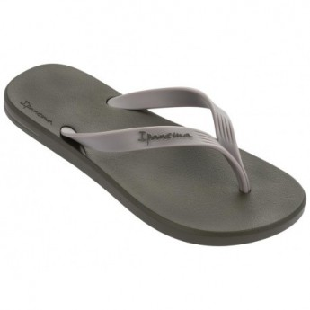 POSTO 10 green and grey flat finger flip flops for man