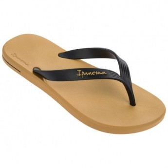 POSTO 10 black and yellow flat finger flip flops for man