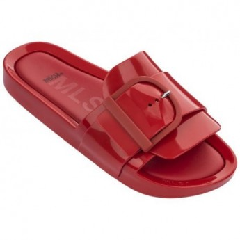 BEACH SLIDE IV red flat shovel sandals for woman