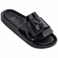 BEACH SLIDE IV black flat open sandals for woman