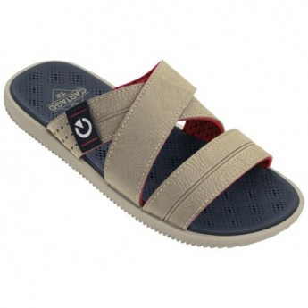 CARTAGO BARCELONA SLIDE AD 22329 BEIGE BLUE RED