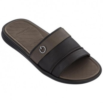FIRENZE brown flat flip flops for man