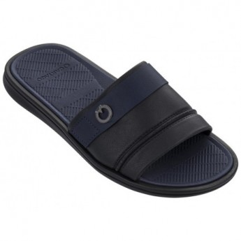 FIRENZE black and blue flat flip flops for man