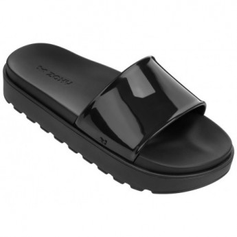 UPLOAD black flat sandals for woman