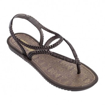 RIVIERA III lila flat finger sandals for woman