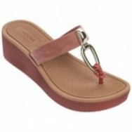 BRISAS brown wedge finger sandals for woman